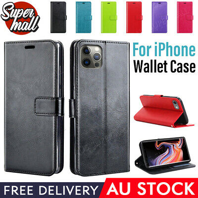 AU7.98 • Buy IPhone 12 Mini Pro Max 11 X XR XS 8 7 6 Plus Leather Wallet Flip Case Card Slim