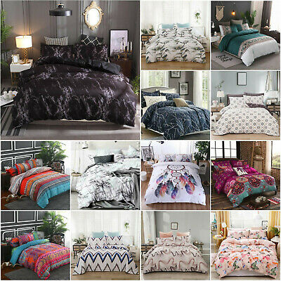 AU35.80 • Buy Ultra Soft Bedding Doona Duvet Quilt Cover Set Single Double Queen King Size Bed
