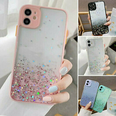 AU11.89 • Buy Cute Bling Glitter Clear Case Girls Cover For IPhone 11 Pro Max 8 Plus XR XS Max
