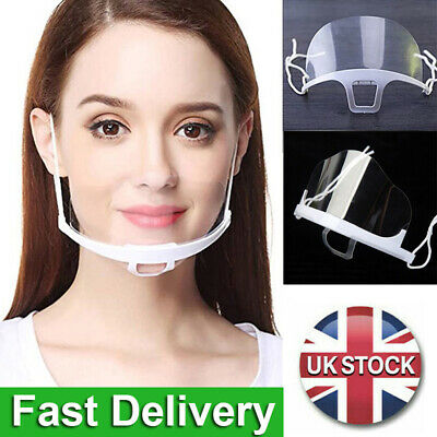 5X Face Shield Visor Protection Mask Ppe Shield Transparent Clear Plastic • 5.30£