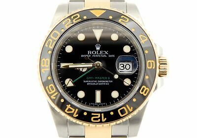 $ CDN17776.75 • Buy Rolex GMT-Master II Stainless Steel 18K Yellow Gold Watch Black Ceramic 116713