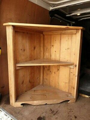 Solid Wooden Corner Cabinet Wall Mounted  • 50£