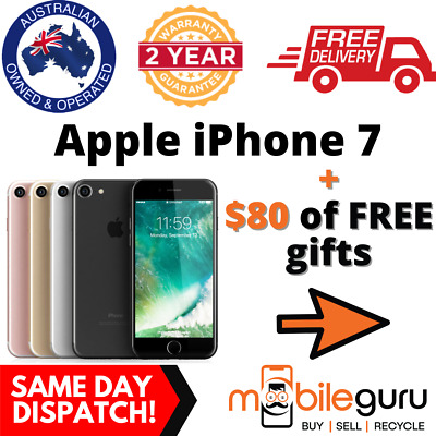 AU339 • Buy Apple IPhone 7 32GB 128GB 256GB All Colours Unlocked Genuine AU Stock Seller