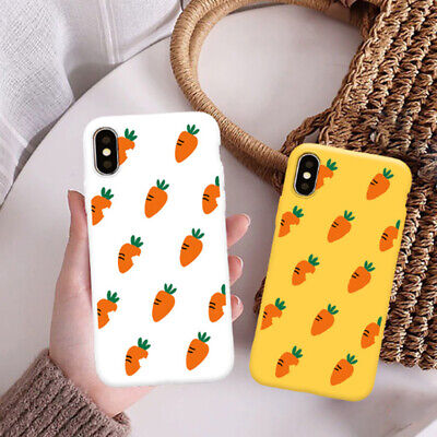 AU4.85 • Buy Cute Carrot Matte Silicone Soft Phone Case For IPhone X XS 11 Pro Max 7 8 6 Plus