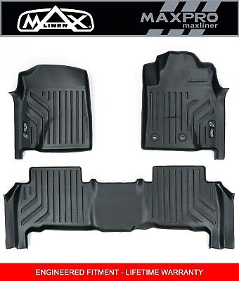 AU195 • Buy MaxPro Floor Liners 3D For Ford Everest  2015 - 2021 - 1st Row And 2nd Rows