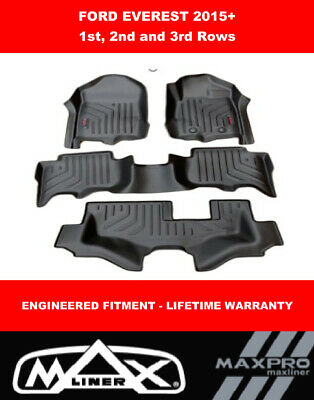 AU265 • Buy MaxPro Floor Mats 3D  For Ford Everest  2015 - 2021 - 1st, 2nd And 3rd Rows