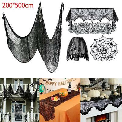 Halloween Creepy Lace Table Cloth Curtain Fireplace Window Door Party Decoration • 3.49£