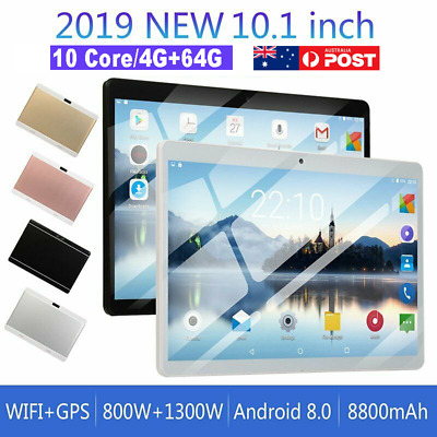 AU108.32 • Buy 10.1 Inch Android 8.0 Bluetooth Tablet PC 4+64GB WiFi 1080P Dual Camera GPS WPS