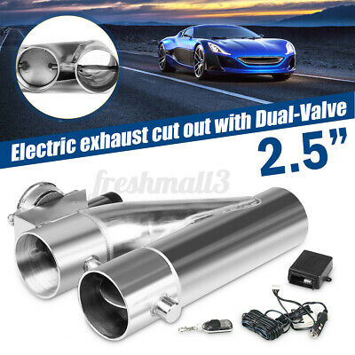 AU125.99 • Buy 2.5'' Inch 63MM Dual Valve Exhaust E-Cut Out Y-Pipe Electric Pipe Remote Kit Car