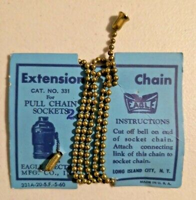 $9.99 • Buy Vintage 1950s Light Socket Pull Chain Extension By Eagle Electric NOS -- 2925