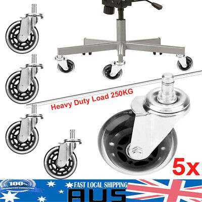 AU32.59 • Buy 5pcs Galvanizing Office Desk Chair Wheels Replacement Rolling Grip Ring Casters