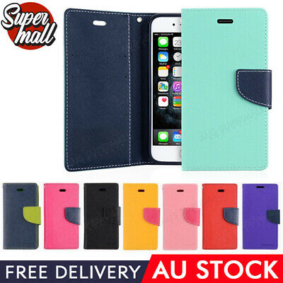 AU4.95 • Buy For IPhone X XS 8 7 6 6S Plus 5 5S SE Leather Flip Wallet Phone Case Cover