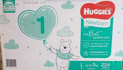AU64.99 • Buy Huggies Ultimate Nappies Size 1 Newborn Unisex Up To 5kg 224's Huggies