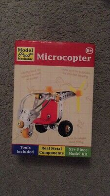 Microcopter Model Mechanic Kids Toy 55+ Piece Model Kit Present • 9£