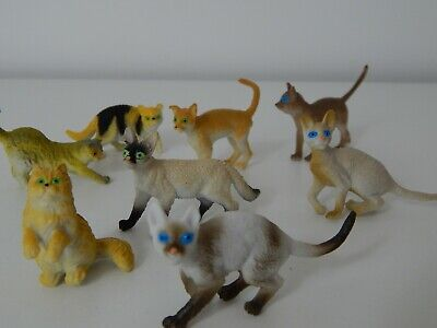 12 Mini Plastic Cats! Educational! Small. 5 Cm! Party Bag Toys! Animals! • 5.75£