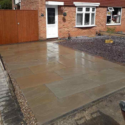 Raj Green Indian Sandstone 900x600 Paving Calibrated  • 473£