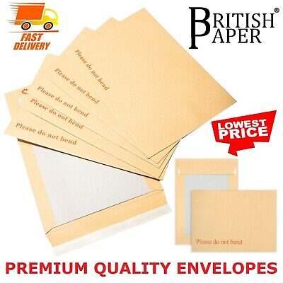 £3.74 • Buy Please Do Not Bend Envelopes Hard Card Board Backed Manilla A3 C4 A4 C5 A5 C6 A5