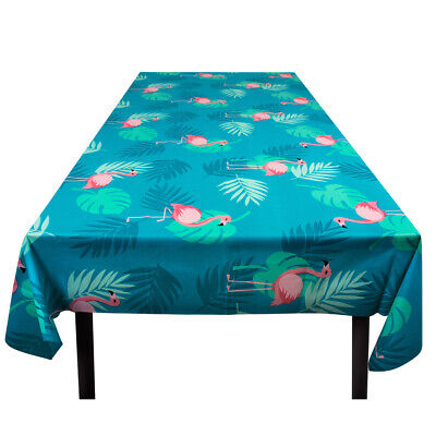 Pretty Flamingo Plastic Party Tablecloth - 130 X 180 Cms Hawaiian Luau Theme New • 2.49£