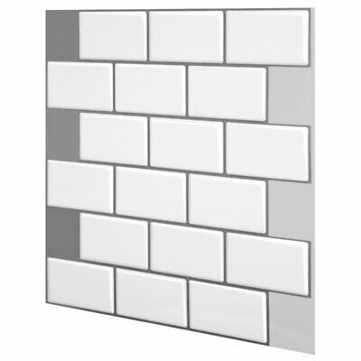 3D 4 Sheets Pack Vinyl Stick On Tiles, Self Adhesive, 12 X12  (30.5cm X 30.5cm) • 16.90£