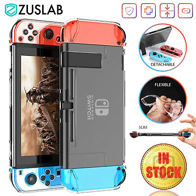 AU9.99 • Buy For Nintendo Switch Case ZUSLAB Clear Slim Soft Heavy Duty Shockproof Cover