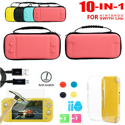 AU20.92 • Buy Carrying Bag Case+Charger Cable+Protector Accessories For Nintendo Switch Lite