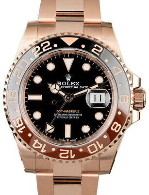$ CDN57324.10 • Buy Rolex NEW GMT-Master II 18k Everose Gold  Root Beer  Ceramic Bezel Watch 126715