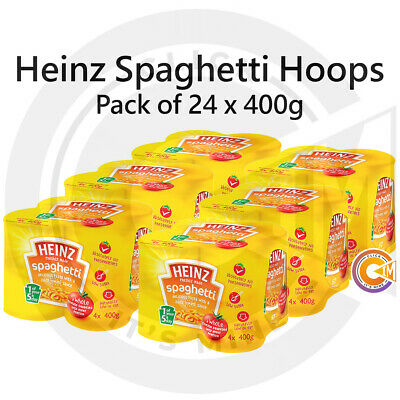 Heinz Spaghetti Hoops In Tomato Sauce Cans Tins 24 Packs Of 400g • 18.99£