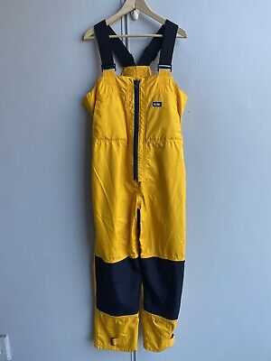 $69.95 • Buy GILL Men's Coastal Trousers, Yellow, Water Repellent, Sailing Bibs Breathable 14