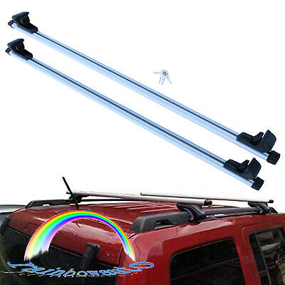 $50.99 • Buy 135cm 53  Car Top Cross Bars Luggage Roof Rack Rail Cargo Carrier Anti-theft New
