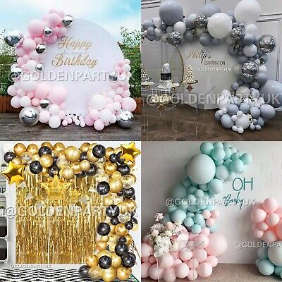 Balloon Arch Garland Kit Happy Birthday Party Easter Baby Shower Hen Decor UK • 14.99£