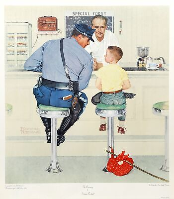 $ CDN751.92 • Buy Norman Rockwell, The Runaway, Vintage Poster