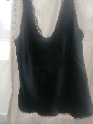 $10.30 • Buy Maidenform 68403 Sweet Nothings Personal Camisole Size 34 Black Used