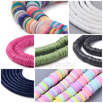 £2.75 • Buy Strand Flat Round Polymer Clay Disc Beads 6mm Diameter 1mm Wide Approx 380 Beads