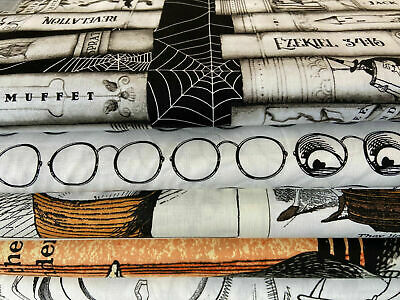 £3.75 • Buy Riley Blake 'Goose Tales' 100% Cotton Fabric By 1/4 Metre*/Panel Halloween Goth