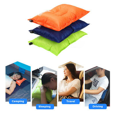AU18.49 • Buy Portable Self-Inflating Air Pillow Cushion Outdoor Camping Hiking Travel Rest