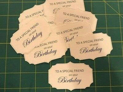 10 Happy Birthday Card Toppers Craft Embellishments Special Friend Cardmaking • 2.85£