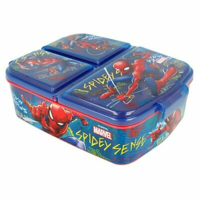 Kids Character Multi Compartment Sandwich Lunch Box FOOD FRUIT SNACK • 12.99£
