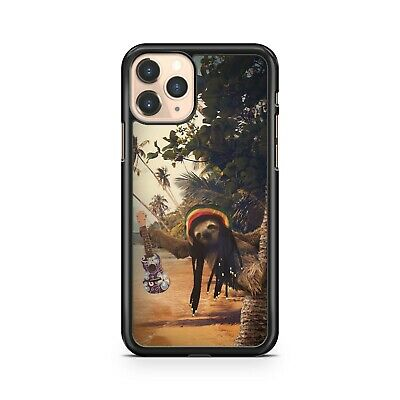 Sloth Animal Bob Marley Hat Guitar Beach Ocean Water Scenery Phone Case Cover • 5.99£