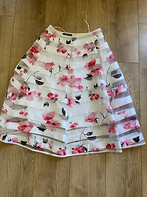£12 • Buy Quiz  Size 10 Midi A Line Patterned Layered Skater Skirt, Zip Closure