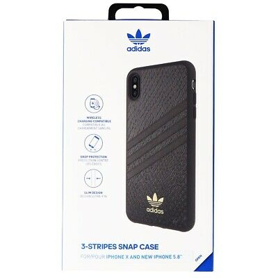 AU36.72 • Buy Adidas 3-Stripes Snap Case For Apple IPhone XS/X - Black Snake / Gold