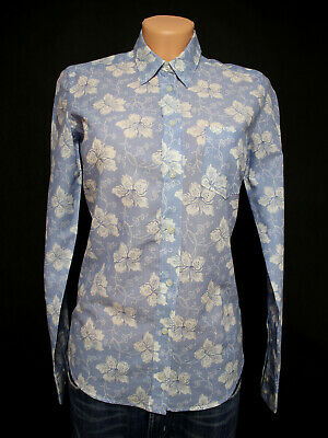 GANT UK 10/S White Lily Voile Ladies Shirt BNWT Small Flowers Shirt NEW RRP £85 • 39.99£