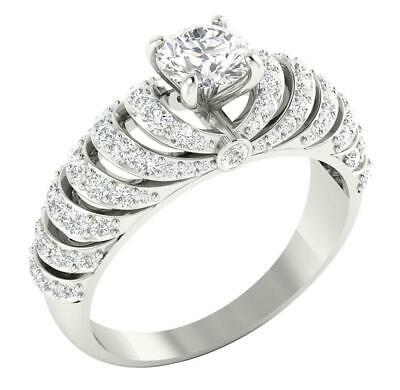 AU1281.87 • Buy Solitaire Engagement Ring I1 G 1.81 Carat Natural Diamond 14K White Gold RS 7-11