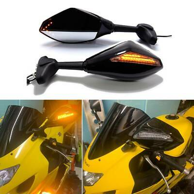 $37.88 • Buy For Suzuki GSXR 600 750 1000 Hayabusa Motorcycle LED Turn Signals Side Mirrors A