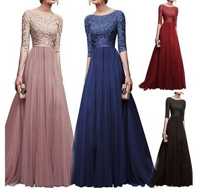 AU32.86 • Buy Womens Lace Evening Gown Prom Party Ball Bridesmaid Formal Long Dress