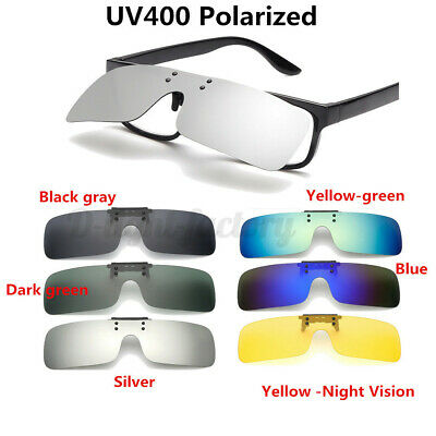 AU7.96 • Buy Polarized Lenses Flip-Up Clip On Sunglasses UV400 Driving Glasses Men Women