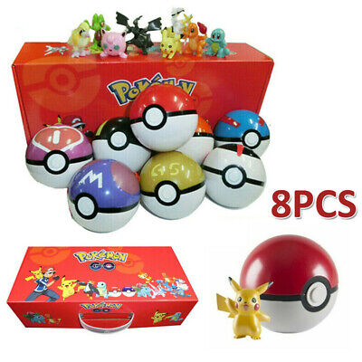 GO Pokeball Pop-up Ball Set Action Figures  Kids Toy Gift Pikachu Games • 15.99£