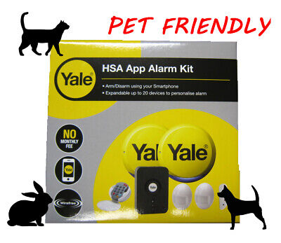 YALE HSA6610PET PET FRIENDLY SMART App WiFi Alarm Smartphone Control 2 Year Wrty • 169.98£