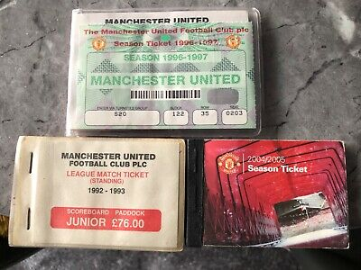 3 Manchester United Used Season Tickets From Various Years • 9.99£