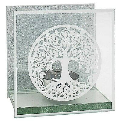 Mirror Tree Of Life Mirrored Tealight Candle Holder Table Centrepiece Ornament • 6.95£