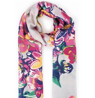 Powder Summer Floral Scarf With Free Gift Bag • 16.99£